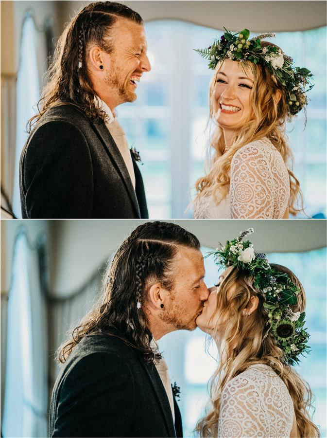 Rock n Roll couple with boho alternative styling
