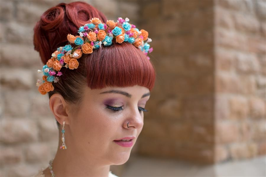 Close up of wedding makeup by Ms Moo Make Up photographed by Dave Fuller Photographer