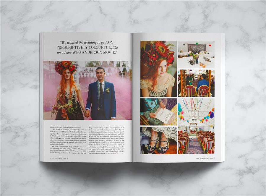 Ms Moo Make Up inside Rock n Roll Bride magazine