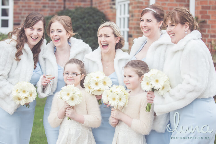 Jo's wedding at Swancar Farm, image by Luna Photography.