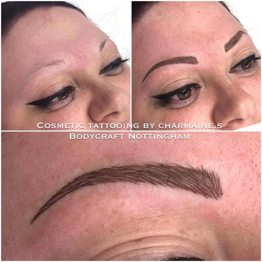 Microbladed eyebrows by Charmaine at BODYCRAFT