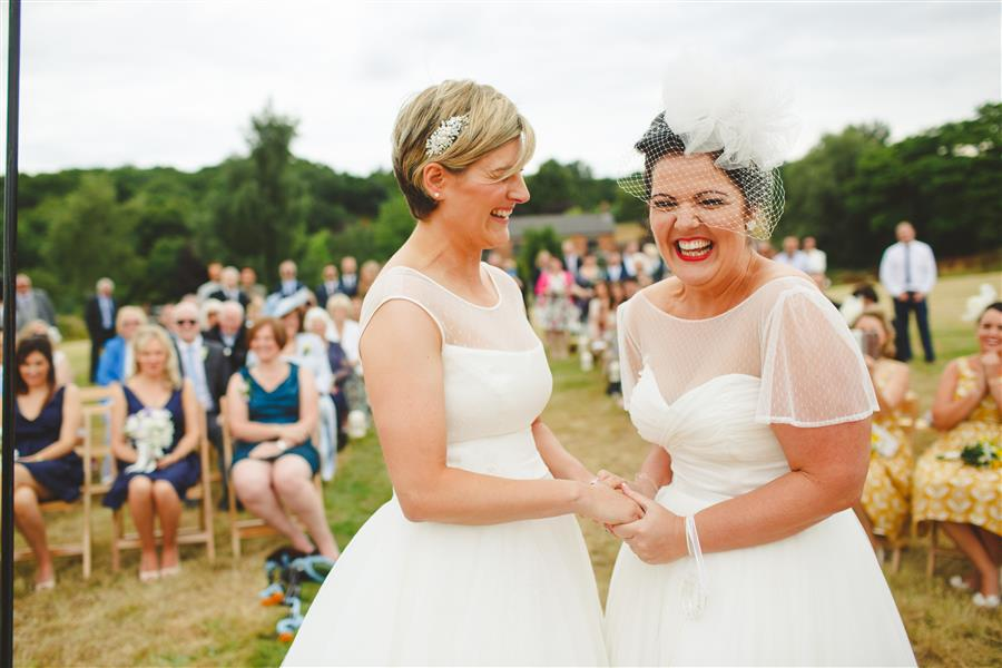 Camera Hannah - Hayley & Lisa - Derbyshire wedding photographer