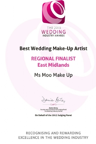 The Wedding Industry Awards - Regional Finalist 2015 East Midlands Best Make-up Artist