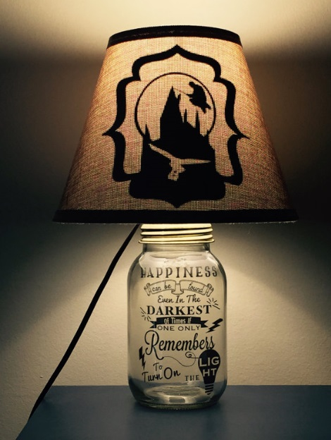 Harry Potter Inspired Mason Jar Lamp from PracPerfCrafts