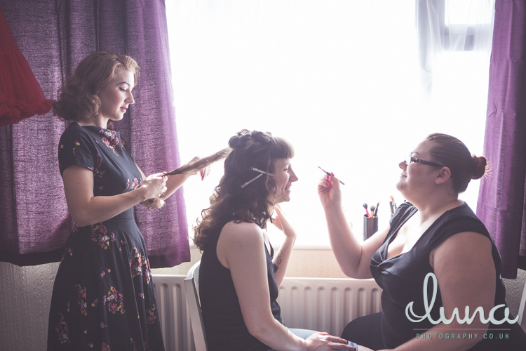 Lizzie's wedding day - Ms Moo Make Up, Luna Photography, Lucille's Locks