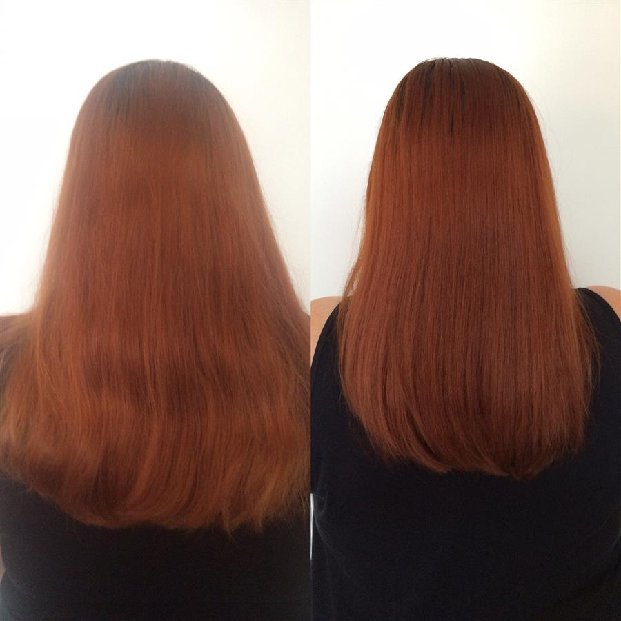 Sutherland and Barnett salon before and after - Ms Moo Make Up